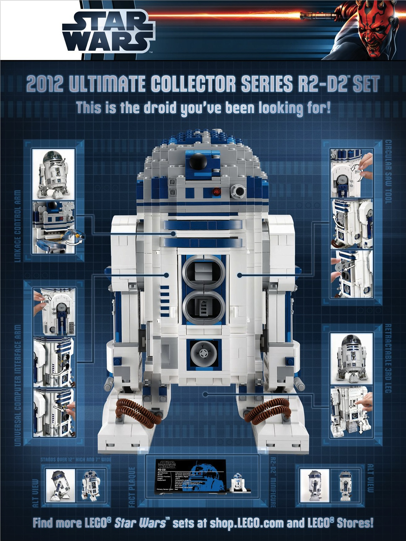 5001162 lego exclusive r2 d2 poster brickipedia fandom powered by wikia - Lego starwars r2d2 ...