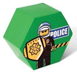 SD656green Storage Jar Police Green