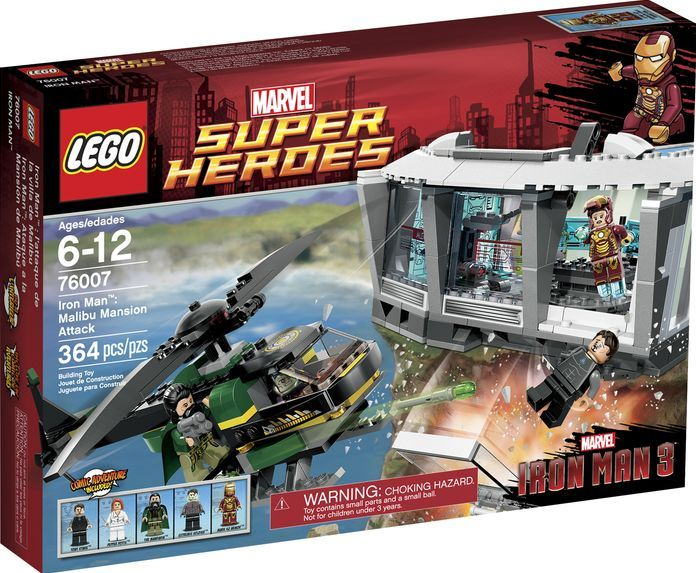 76007 iron man malibu mansion attack brickipedia - Lego iron man 3 ...