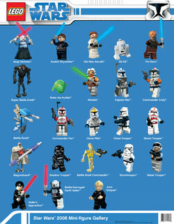 Star Wars 2008 Mini-figure Gallery