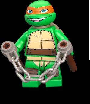 Michelangelo wiki lego fandom powered by wikia - Tortue ninja orange ...