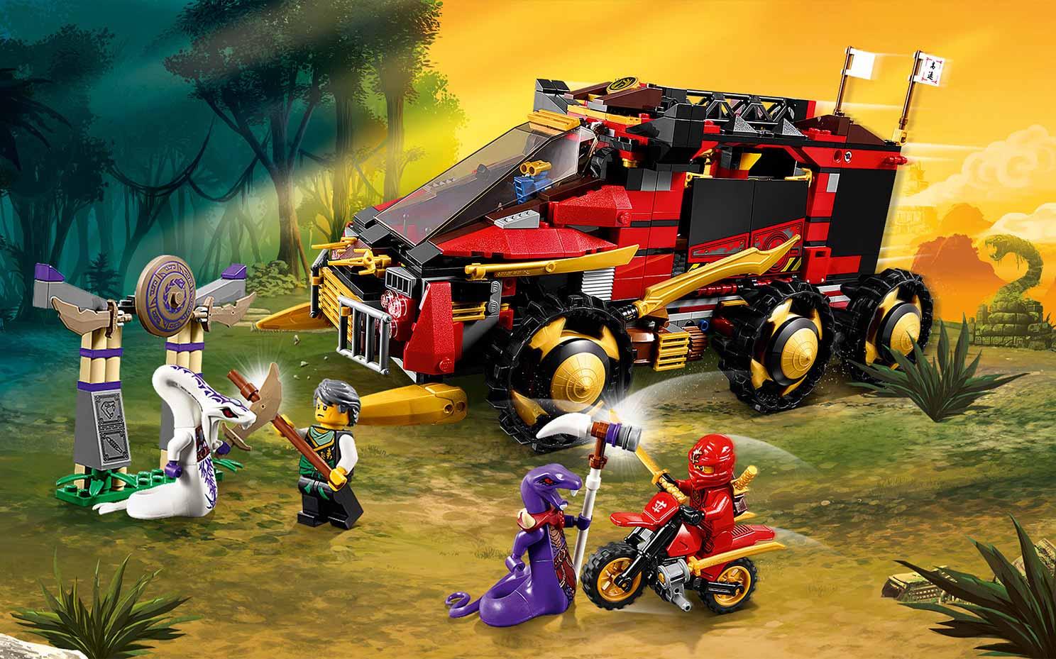 70750 la base mobile des ninjas wiki lego fandom - Lego ninjago 4 ...
