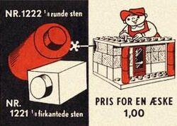 1222-1 x 1 Round Bricks