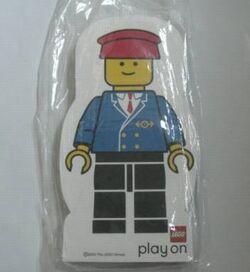 4229620-Memo Pad Minifig - (L) Railway Employee