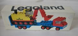 681-Low-Loader with 4 Wheel Excavator