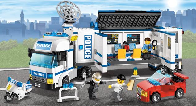 7288 l 39 unit de police mobile wiki lego fandom powered - Camion de police lego city ...