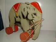 Wooden lego elephant3