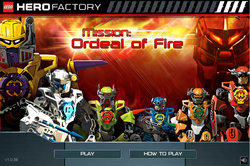 Mission Ordeal of Fire Main Screen