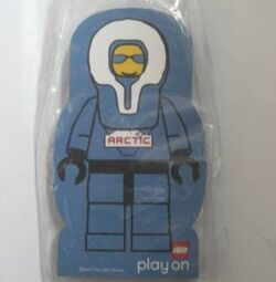 4229621-Memo Pad Minifig - (M) Arctic