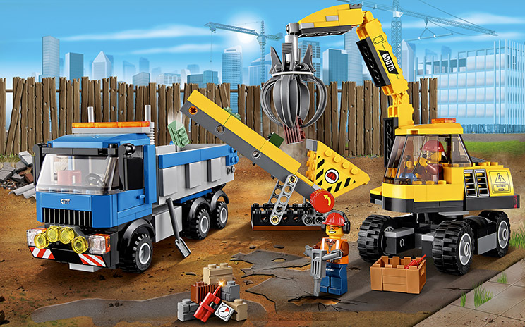 60075 l 39 excavatrice et le camion wiki lego fandom powered by wikia - Camion lego city police ...