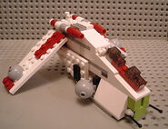 Mini republic gunship