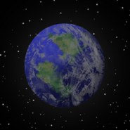Moonbase skybox planet