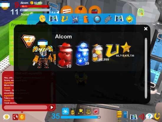 LEGO Universe LU Points Glitch