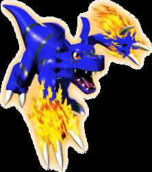 Guilmon 3D2 Blue