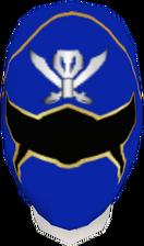 Blue Gokai Helmet F
