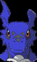 Guilmon head Blue