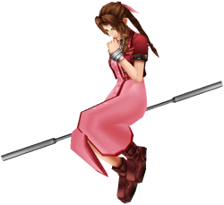 Aerith Dissidia Holy Render