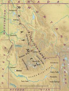 Idaho-map