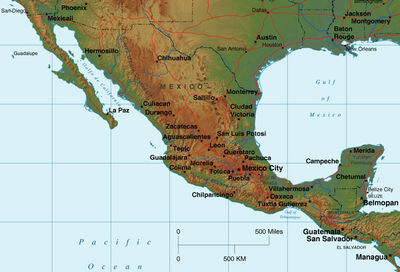 Mexico-relief-map