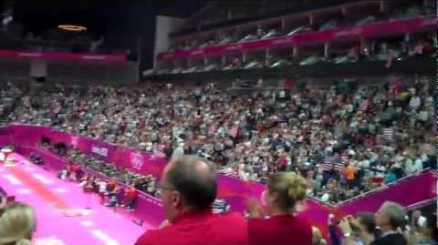 Gabby Douglas GOLDEN WINNING MOMENT on the Floor Event LIVE 8-2-12