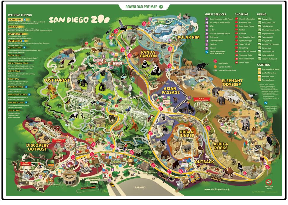 San Diego Zoo List Of Major Zoos In The US Wiki FANDOM - San diego zoo map