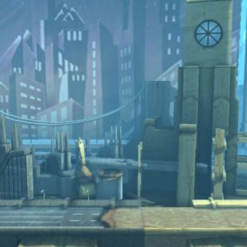 The background of The Factory Of A Better Tomorrow in LittleBigPlanet 2