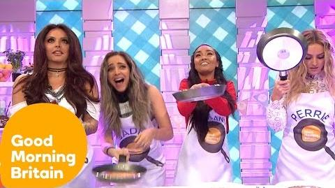 Little Mix Get Competitive In A Pancake Decoration Challenge Good Morning Britain