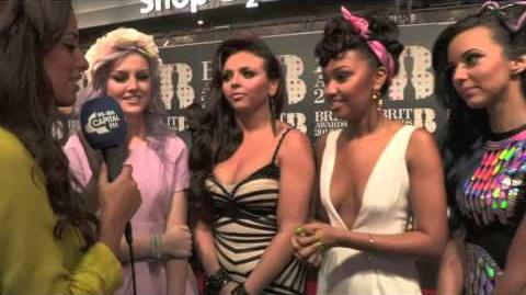 BRIT Awards 2013 Little Mix Red Carpet Interview With Capital FM