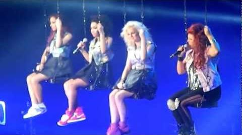Little Mix singing Beautiful- The X Factor tour 2012- Manchester