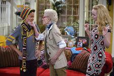 Grandma-A-Rooney Grandma-touches-Parker's-chin