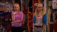 Liv and maddie in joey's room