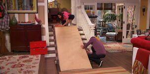 Willow and Diggie build Maddie's wheelchair ramp