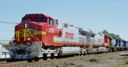 BNSF Warbonnet Dash 9's