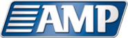 AMP logo metallic
