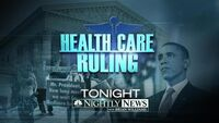 NBC News' NBC Nightly News With Brian Williams' Health Care Ruling Video Promo For Thursday Evening, June 28, 2012