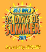 WPLJ-FM's 95.5's 95 Days Of Summer 2001 Logo From 2011