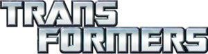 Transformers layered text logo
