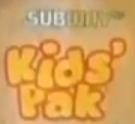 Subway Kids Pak old logo