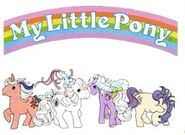 MLP G1 logo with characters