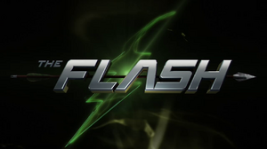 The Flash (2014 TV series) Flash vs. Arrow title card