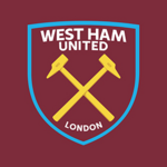 New West Ham United FC logo (claret, blue and gold v2)