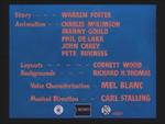 The Foghorn Leghorn (1948) Credits screen