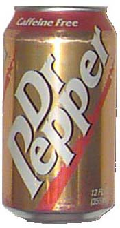 Decaffeinated Dr Pepper 1997 Can