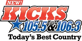 WDBY-FM's The New Kicks 105.5 And 106.3 Logo From 2012