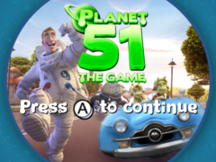 Planet 51 Wii Game Title 4x3
