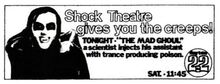1972 TV Guide ad for Shock Theater