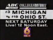 WBRC-TV Channel 6 ABC Sports Michigan Ohio State promo 1992