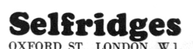 Selfridges 60s