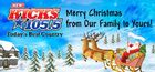WDBY-FM's The New Kicks 105.5's Merry Christmas Logo From December 2011