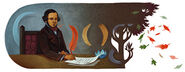 Google Almeida Garrett's Birthday